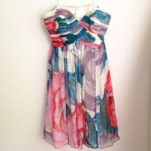 Donna Morgan Strapless Chiffon Dress 10 bridesmaid